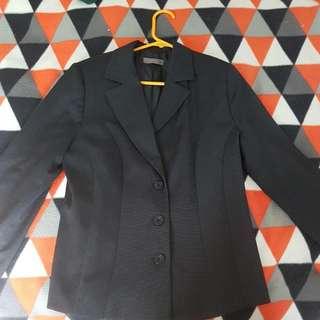 Jacqui-E Dark Grey Suit Jacket, Size 14