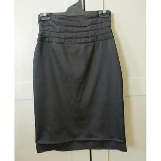 Rosemin full zip pencil skirt