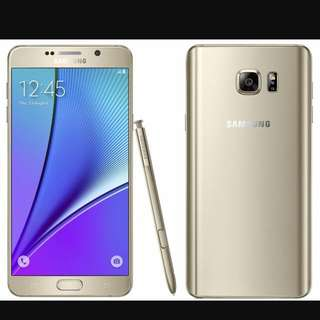 Samsung NOTE 5 32GB Gold - Mint (was my spare phone)
