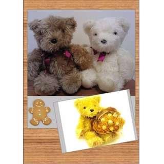 🚚 全新泰迪熊玩偶(每隻)#衣櫃大掃除