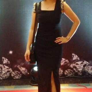 Black Dress (with slit)