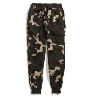 迷彩縮口 美式 高端 縮口褲 Pants 零碼出清 售出不換
