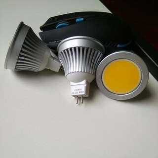 全新12W 黃膽射燈 三個