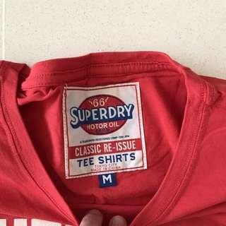 Super dry Tshirt - red - Medium