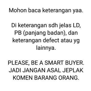BE A SMART BUYER, PLEASE..