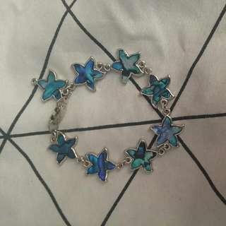 Blue star holographic shiny Bracelet