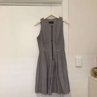 Cue Size 10 Black And White Dress