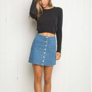 Brandy Melville Armelle denim skirt