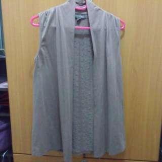 Plains & Prints cardigan (sleeveless)