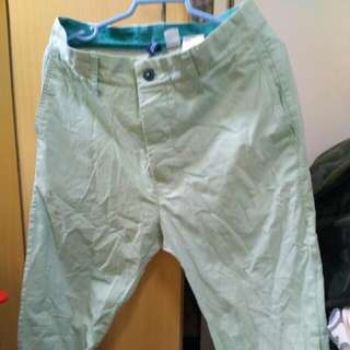 H&M Light Green Chino Pants Size 28