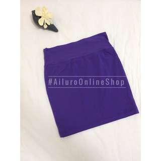 Purple Stretchable Skirt