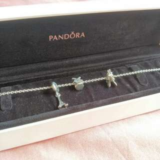 Pandora Necklace with three charms