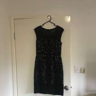 Jacque E Black Dress Size 10