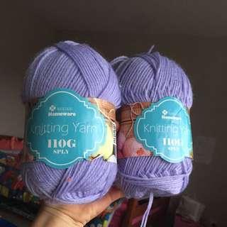 Purple 8ply Knitting Yarn