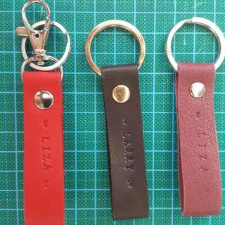 Handmade Genuine leather personalized keychains