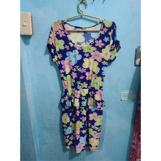 Stretchable Floral Plus Size Dress