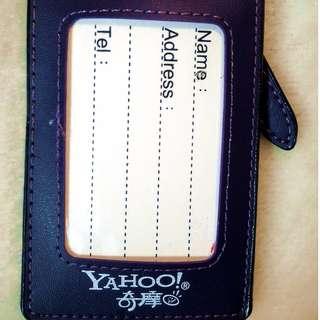 全新!YAHOO 雅虎奇摩 行李 吊牌 證件夾 票夾 紫色 香港經銷 已絕版  #台北台中可面交 #轉轉來交換