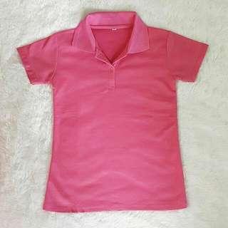 Kaos Kerah Pink