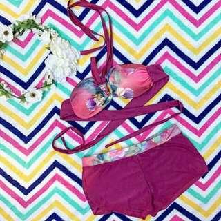2 Pc Two Piece Bikini Swimsuit Swimwear