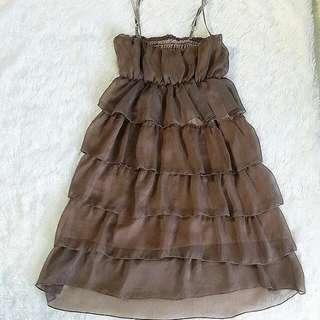 Mini Dress Coklat