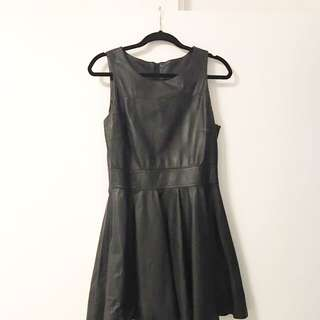Portmans Fit And Flare Leather Dress