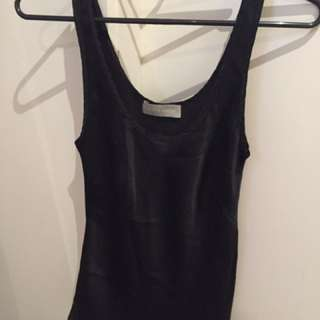 Satin Black Cami