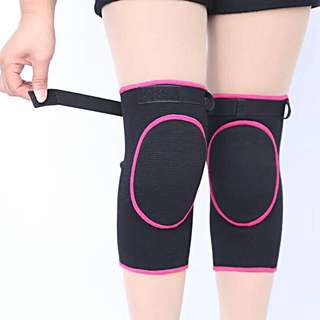 Black and Pink Extra Thick Knee Pads