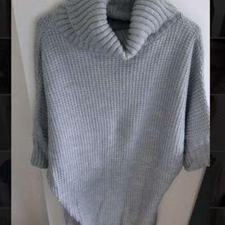 Grey High Collar