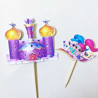Handmade Shimmer And Shine Castle And Character Topper