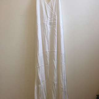 White Semi Formal Maxi dress - Size 10