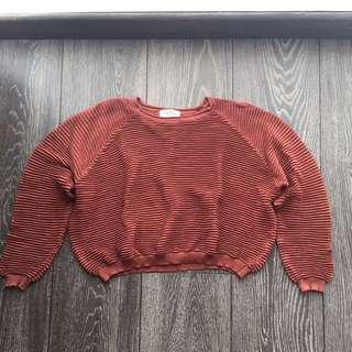 Crop Bricks Knit Top
