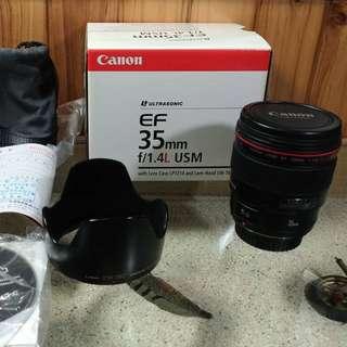 可議價Canon 單眼鏡頭EF35mm
