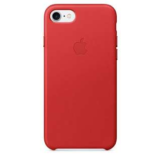 Used iPhone 7 Leather Case Red
