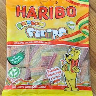 <SOLD OUT> UK Sour Rainbow Twists/Strips Haribo Pack