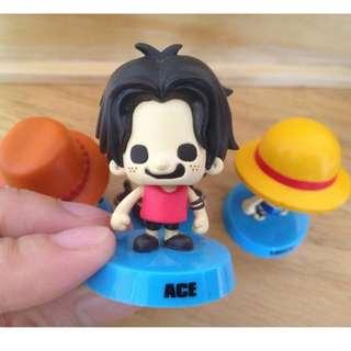 海賊王/航海王 One Piece 日本限定 Q版搖頭公仔---艾斯