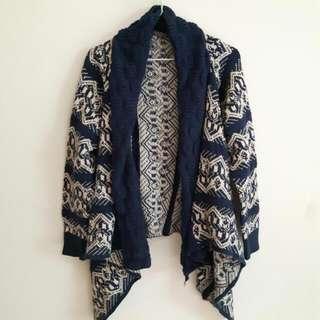 開襟圖騰毛料外套  #三百元外套