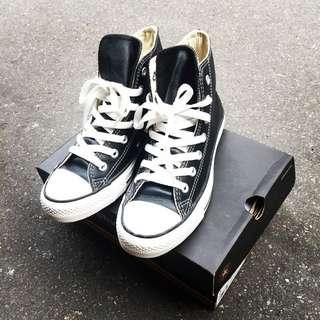 Converse All Star 荔枝皮 高筒 復古 經典 黑 白鞋
