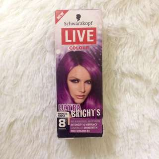 SCHWARZKOPF Live Colour Ultra Bright Temporary Hair Color Shampoo In Violet