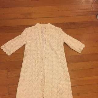 Vintage Lace House Coat Sz 10/12