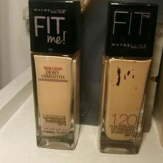 *2 For 1* Maybelline Fit Me Foundation In 120