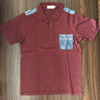 Polo Shirt Maroon Ezra Mirip H&m Topman Zara Navajo