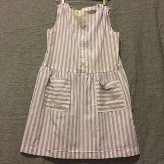 Oversized Striped Vintage Dress