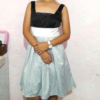 Scoop Back Pleated Dress