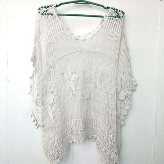 Loose Crocheted Swimsuit Cover Up / Coverup