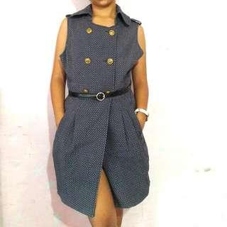Short Sleeved Coat Dress