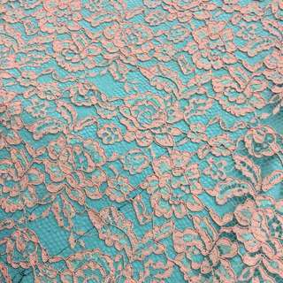 Light Pink And Mint Green Floral Lace