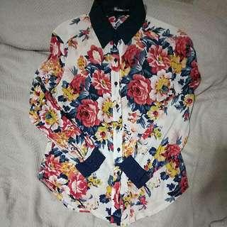 PRELOVED - Flower Shirt
