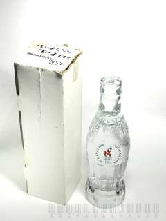 Coke: Atlanta 1996  24% Lead Crystal Contour Bottle