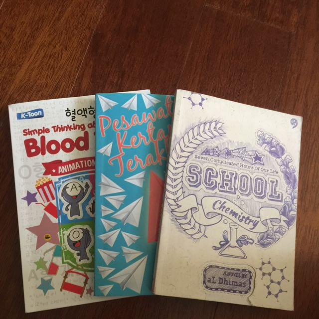 1 Set Novel Blood Type Agnes Davonar Pesawat Kertas Terakhir Al Dhimas School Chemistry
