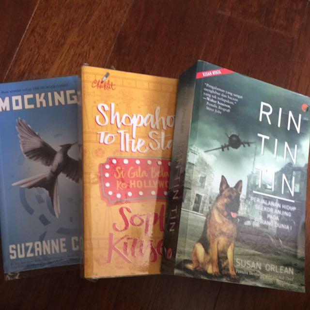 1 Set Novel Mockingjay Suzanne Collins Si Gila Belanja Sophie Kinsella Rin Tin Tin Susan Orlean